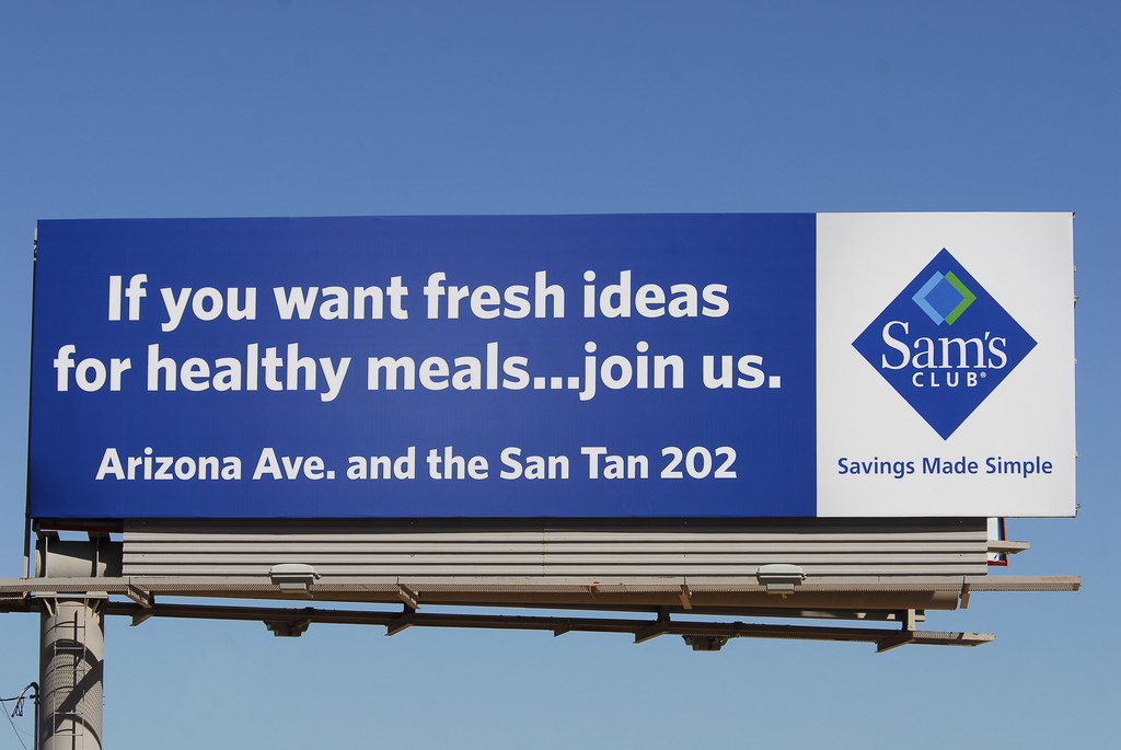 A billboard advertises the Sam's Club at Arizona Avenue and the San Tan 202 in Chandler. On Jan. 11, Walmart said it would be closing 63 Sam's Club stores across the country, including the store at 1375 S. Arizona Ave.