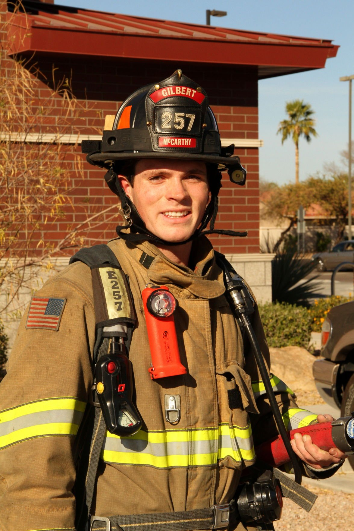 Desert Vista grad Cole McCarthy realized his life's dream of becoming a firefighter by finding a position in Gilbert.