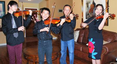 Violinists all in the family