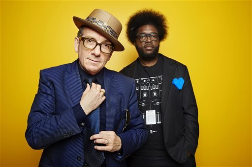 "Elvis Costello and Ahmir ""Questlove"" Thompson"