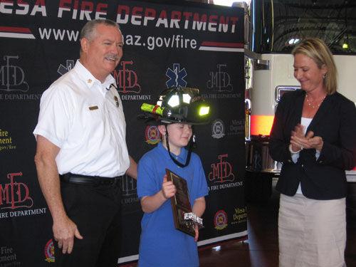 Honorary Mesa Firefighter