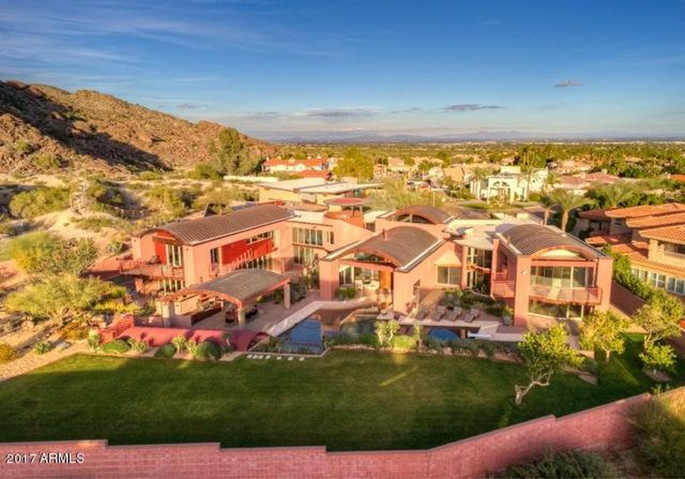 A $2.25 million price tag is on this 9,100-square-foot home on Canyon Drive in Ahwatukee