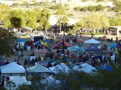 Cutline  Ahwatukee's Festival of Lights Kick-Off Party, held for 24 years on the Saturday after Thanksgiving, drew as many as 20,000 people to the day-long event.