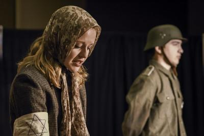 Erin Simons portrays a Jewish mother and Noah Fischer a Gestapo soldier