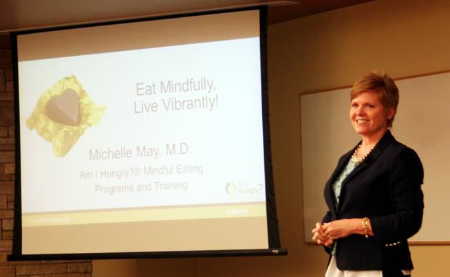 "Dr. Michelle May, a self-confessed ""recovered yo-yo dieter"" now runs a successful business teaching people ""mindful eating"" as a more effective way to lose weight than dieting."
