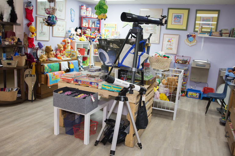 The new Treasures 4 Teachers Thrift Store has a wide variety of items, including toys segregated in a special children's area.
