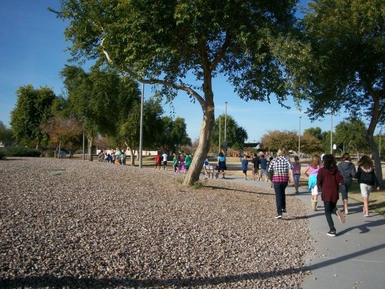 Walking at Basha Elementary School