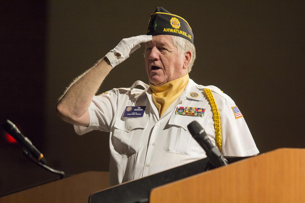 Ahwatukee American Legion Post 64 Commander Ed Mangan headed the unit's color guard for more than a decade and still participates in it despite his other post-related duties.