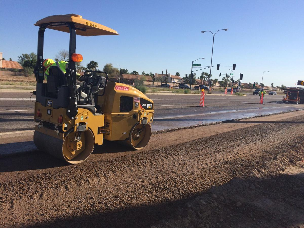 Crews began working on 32nd Street and Pecos Road early last year as freeway construction got underway.