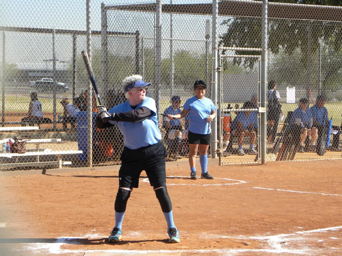 Ahwatukee resident Connie Squires is a power hitter in the Senior Olympics' softball circuit