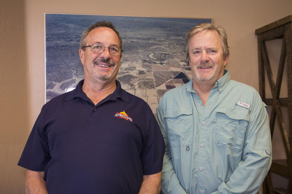 Longtime Ahwatukee residents Chad Chadderton, left, and Roger Lindquist think their idea can break the impasse.