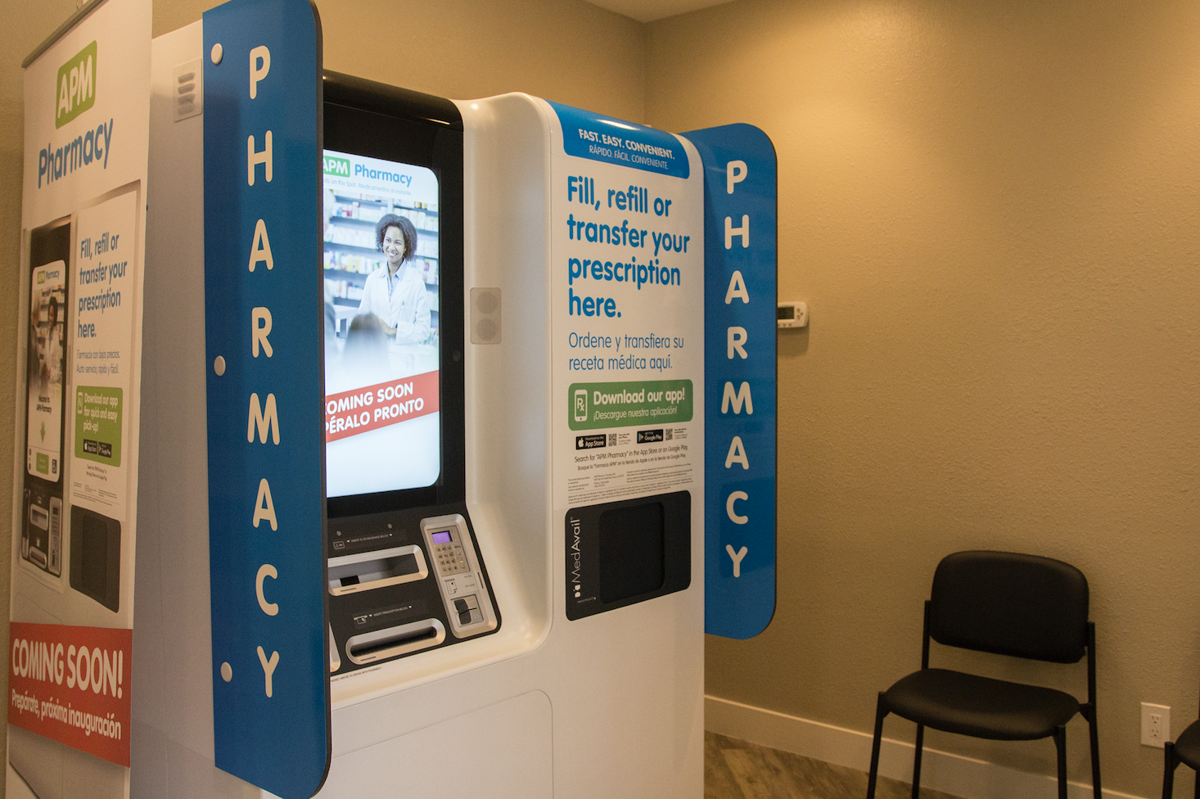 The APM Pharmacy kiosk