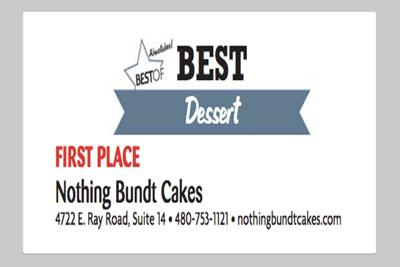 Nothing Bundt Cakes 4722 E. Ray Road, Suite 14