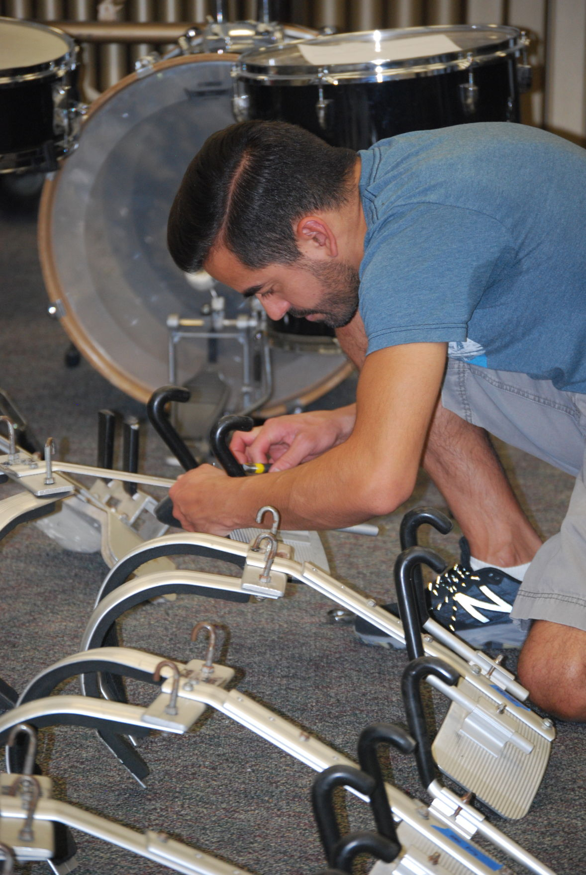 Percussionist Adrian Vendor who graduated from Mountain Pointe 1999 snd studied under Leo Werner.