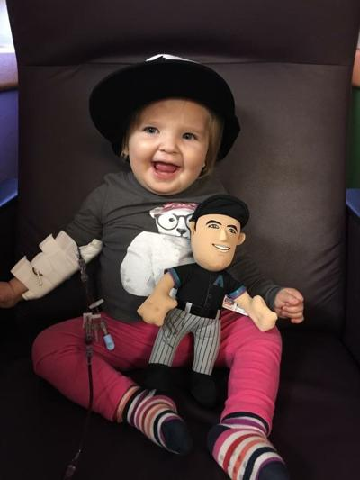 Although she won't turn 2 until next week, Adelyn Troutman already has had 25 blood transfusions.