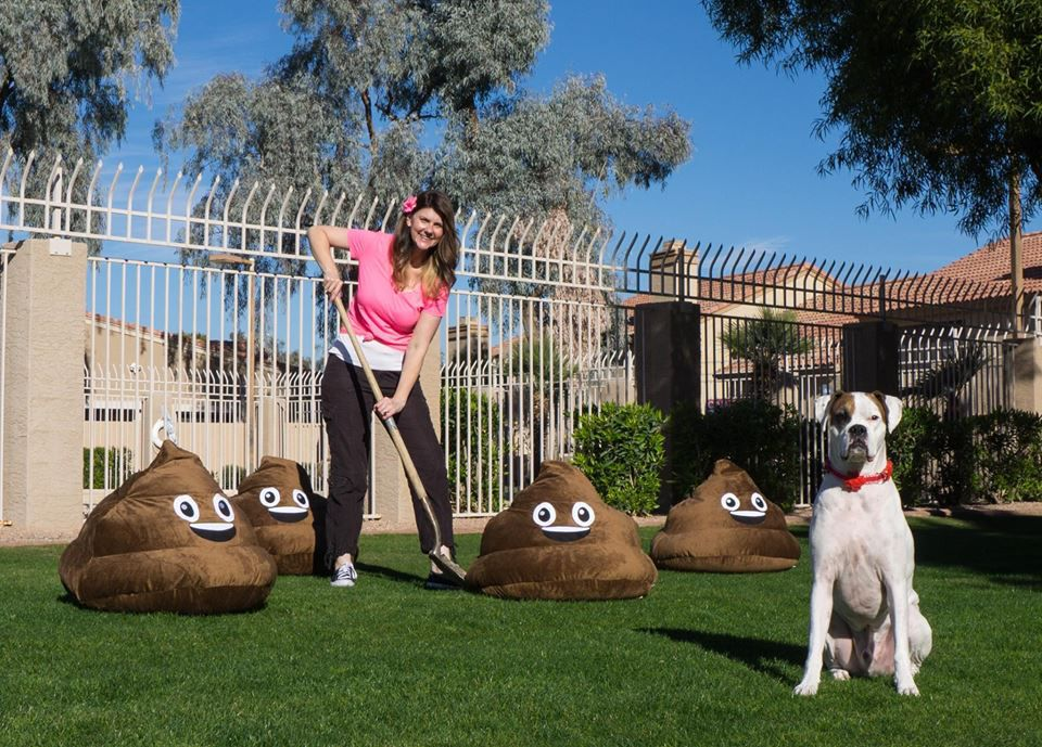 "Chelly Bosworth Fousek of Ahwatukee calls the clean-up part of her business a ""win-win"" because she gets to play with her client-dogs."