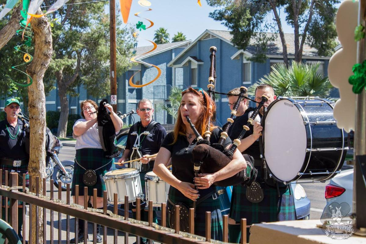 Members of Glendale Pipes and Drums perform at Four Peaks Brewing Company in Tempe