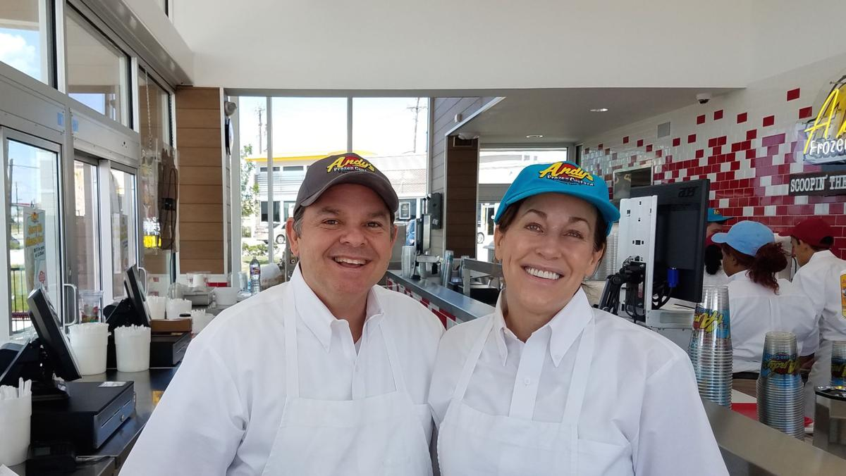 Joe Gabe is the manager of Andy's Frozen Custard store in Ahwatukee while Beth Compton is overseeing the growth of its brand throughout the state.