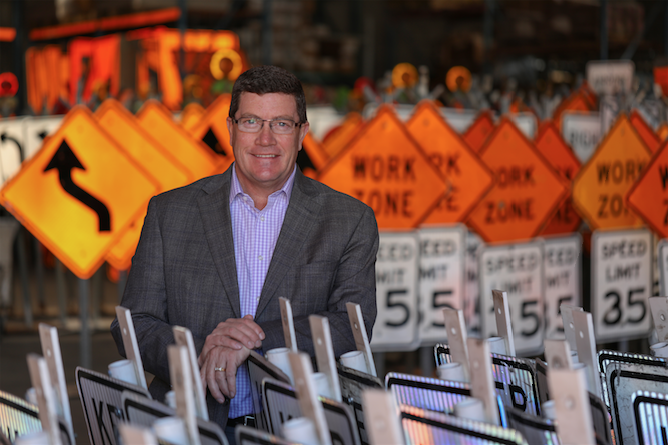 Dave Meirick of Ahwatukee heads the nation's largest provider of traffic control signs and related products