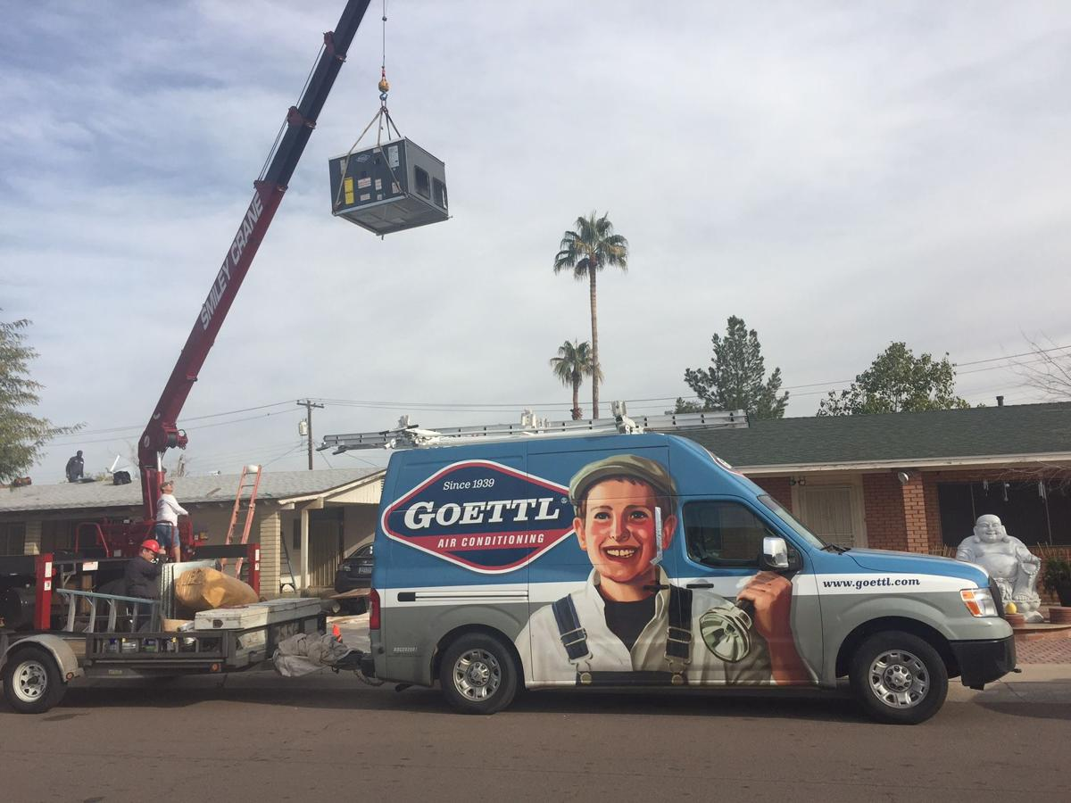 Goettl vans can be seen all over the East Valley, installing units or servicing them. The company has been based in Tempe for 13 years.