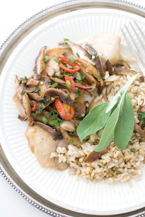 Chinese-style steamed tilapia