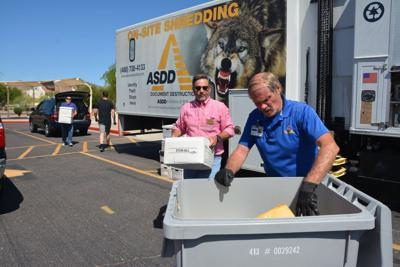 Keller Williams Realty Sonoran Living Realtor Shirley Coomer also sponsors paper shredding events in the fall and spring to help the Kyrene Foundation.