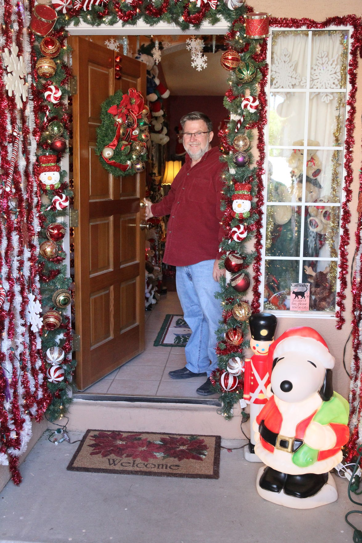 Jim Simpson will be wearing a Santa suit when he opens the door of his home at 2313 E. Taxidea Way, Ahwatukee, from 6 to 9 p.m. Dec. 21 so the public can view his Christmas collection.