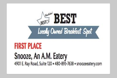 Snooze, An A.M. Eatery 4901 E. Ray Road, Suite 120