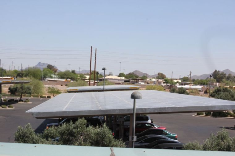 Solar panels at Red Mountain Library