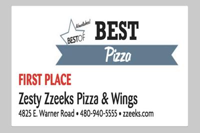 Zesty Zzeeks Pizza & Wings 4825 E. Warner Road