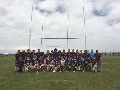 The Ahwatukee Rugby Club, consisting of athletes from Desert Vista and Mountain Pointe high schools, is returning to the state championship game  for the second consecutive year. Players posed for this team photo after they beat Tucson last Saturday, April 8.
