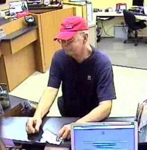 Bank robbery surveillance image