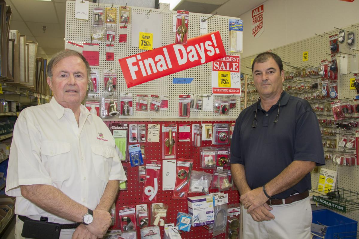 Ahwatukee residents Bob Nelson, left, and Chris McCarty are POWER Retailing, a consultant business that helps struggling businesses die in peace, as they are doing with the 35-year-old Plaza Hardware store near their Ahwatukee homes.