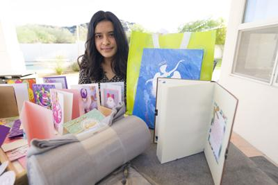 Reva Chaudhry makes scores of cards to bring encouragement to people