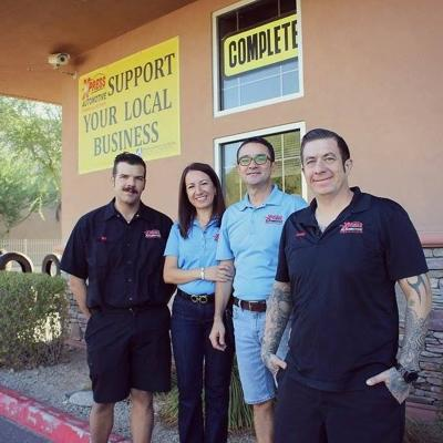 The team at XPress Automotive consists of, from left, Nicholas Farese. Rima and Wassek El-Rabaa and Kenneth Mowrer.