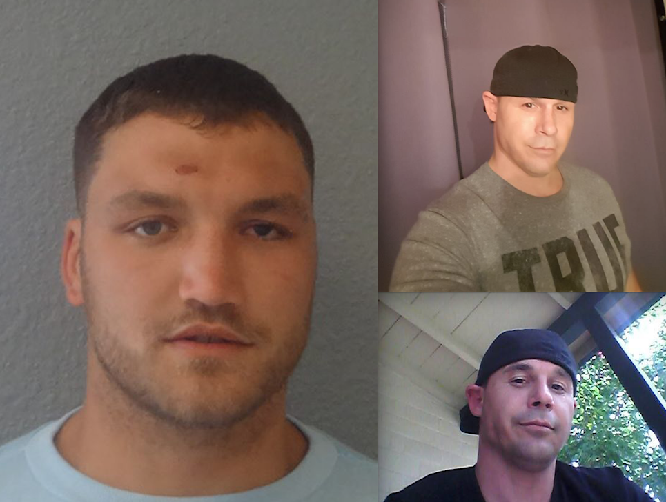 The gunman, Todd Munson, left, the victim Nathan Cahal, right