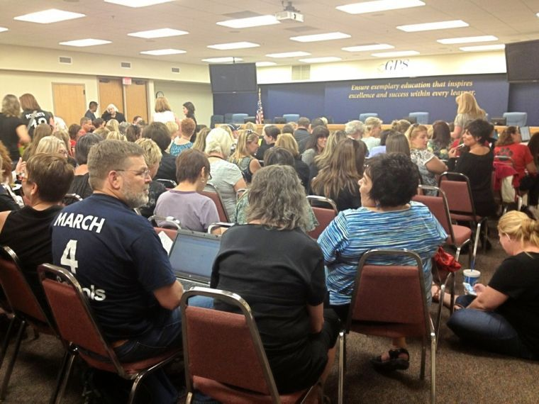 Gilbert school board meeting