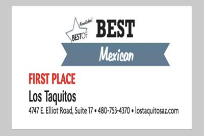 Los Taquitos 4747 E. Elliot Road, Suite 17