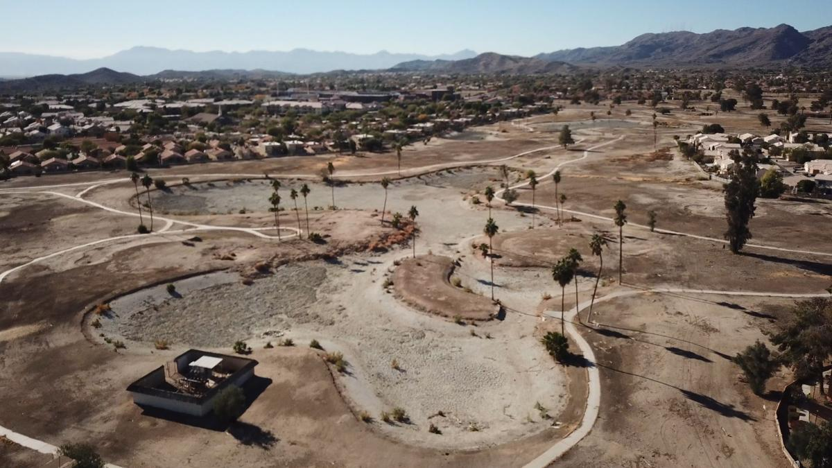 This aerial photo by Ahwatukee photographer Tom Sanfilippo of Inside Out Aerial shows the mess that Ahwatukee Lakes Golf Course has become for thousands of nearby homeowners.