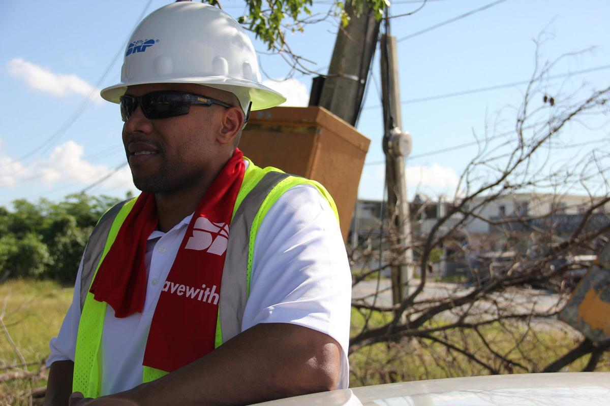 Dorian Speed of Ahwatukee, a distribution supervisor for SRP, is working in Puerto Rico with crews to help restore electricity after Hurricane Maria pummeled the island.