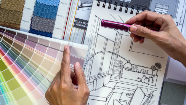 Remodeling a home can require considerable time working on conceptual designs and color swatches