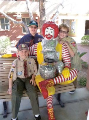 Ahwatukee Webelos make donation to Ronald McDonald House