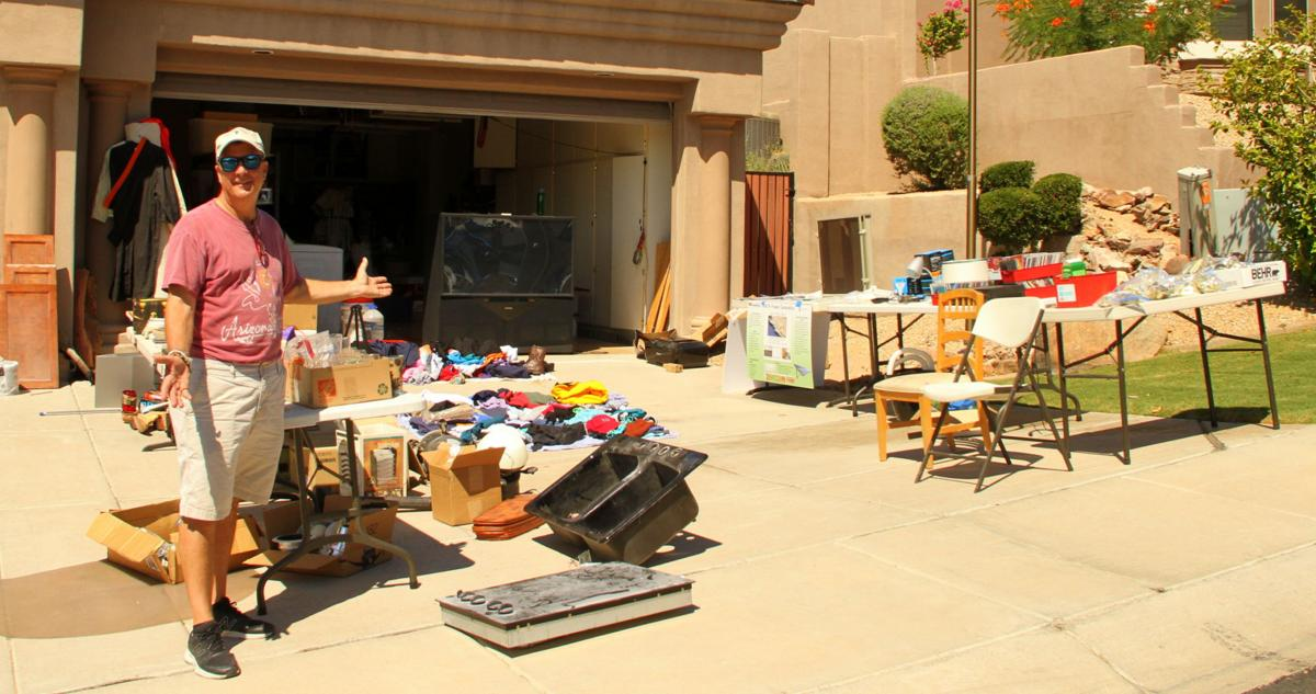 Engineer Mike James of Ahwatukee held a garage sale to help raise money to build homes in Mexico for poverty-stricken people.