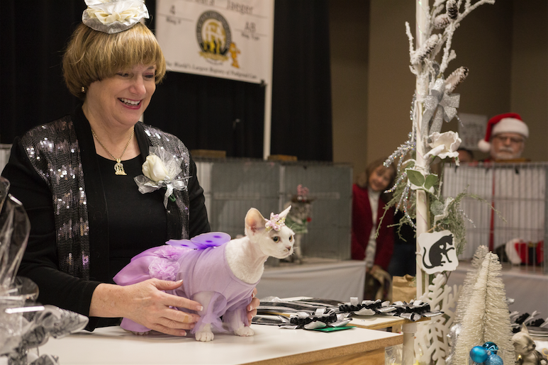 """Last month Barbera Jaeger judged a Phoenix Feline Fanciers' cat show in Mesa and one of her duties involved determining the cat that was best dressed for the holidays. This feline came in a """"Nutcracker"""" tutu."""
