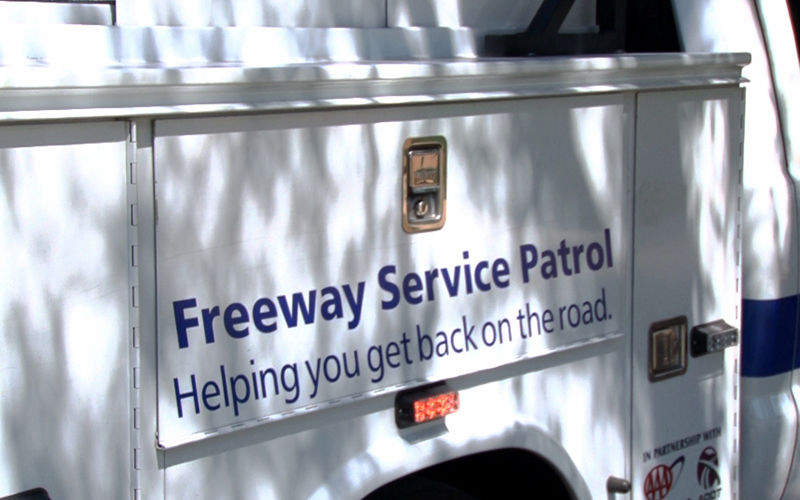 A roadside assistance program helps stranded motorists who have problems on Arizona freeways, such as running out of gas or have a tire blow out.