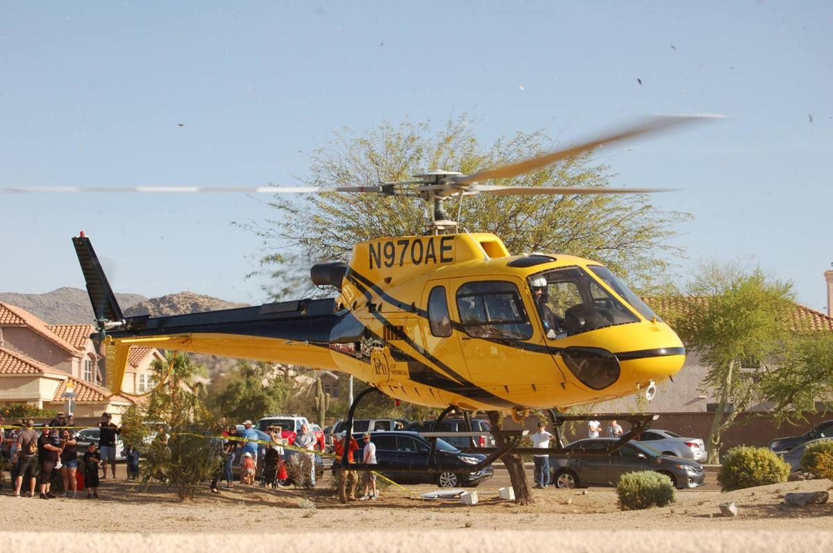A helicopter landed last year to open Transportation Day at God's Garden Preschool in Ahwatukee