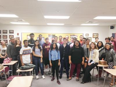 Lane Waddell's Mountain Pointe High School government class
