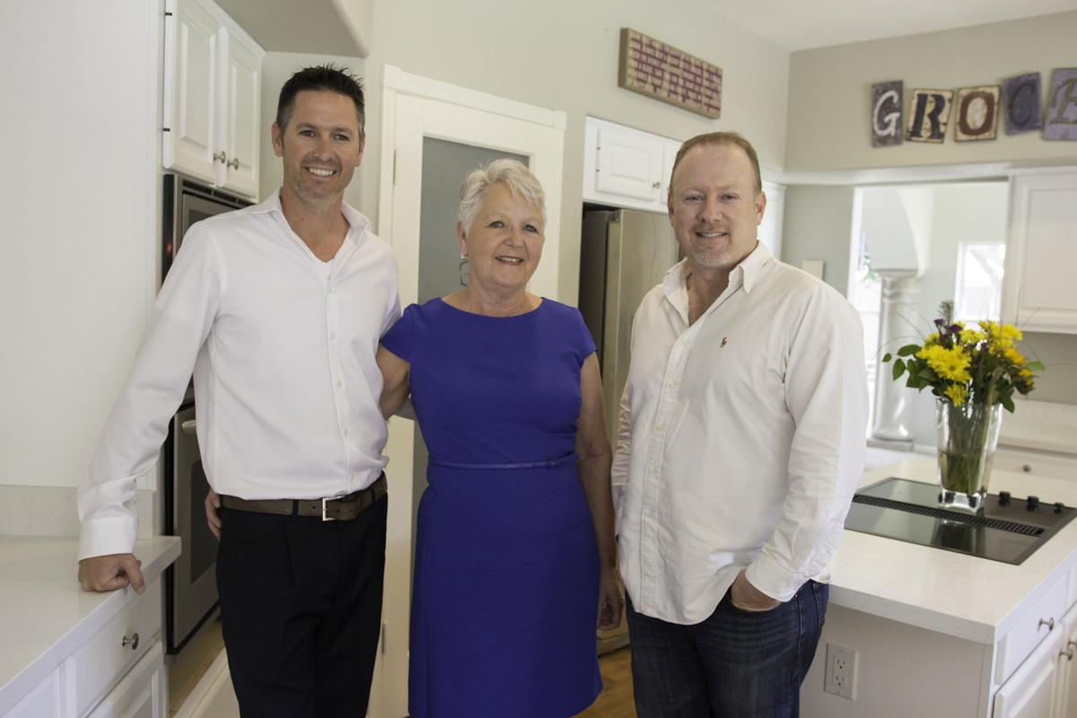Mike Smith, left, and his mother, Maryann Smith, and Dave Tussing work together and make up Phoenix Native Properties