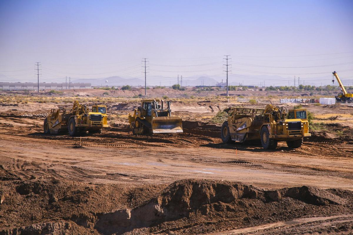 construction of the South Mountain Freeway
