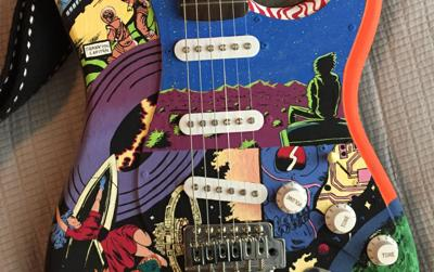 Guitars a canvas for DV sophomore artist